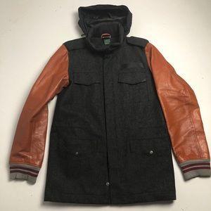 Nike Wool Jacket Gray Brown Mens Small